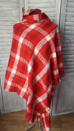 Czerwono biały szal krata Zara