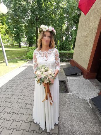 Zjawiskowa Suknia Ślubna Rozm34/36 IVORY