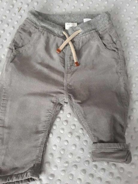 Zara nowe spodnie chłopięce r.80, bez metki