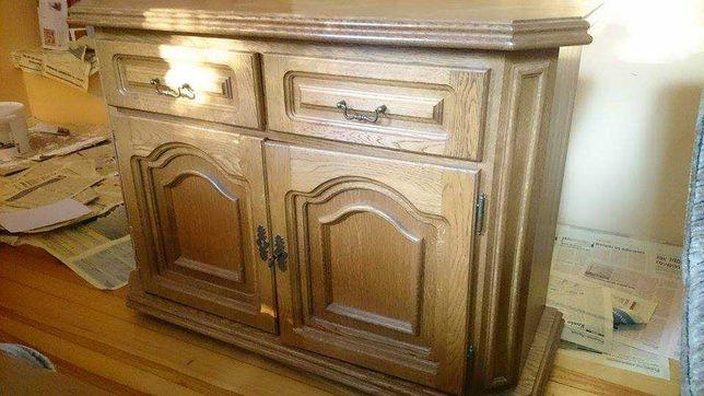 Komoda drewniana dębowa vintage retro klasyczna