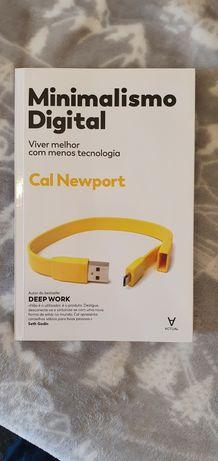 Livro minimalismo digital de Cal Newport