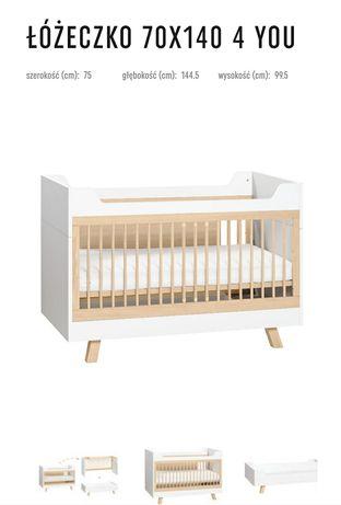 Łóżeczko 140x70 biurko, łóżko 3w1