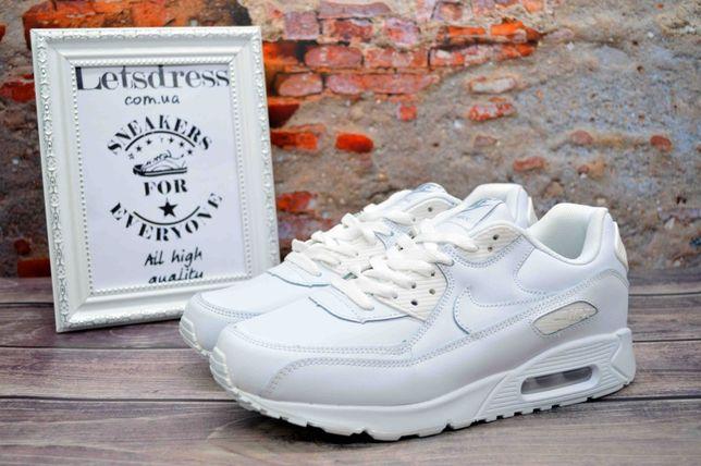 Кроссовки Мужские Nike air Max 90 White найк аир макс