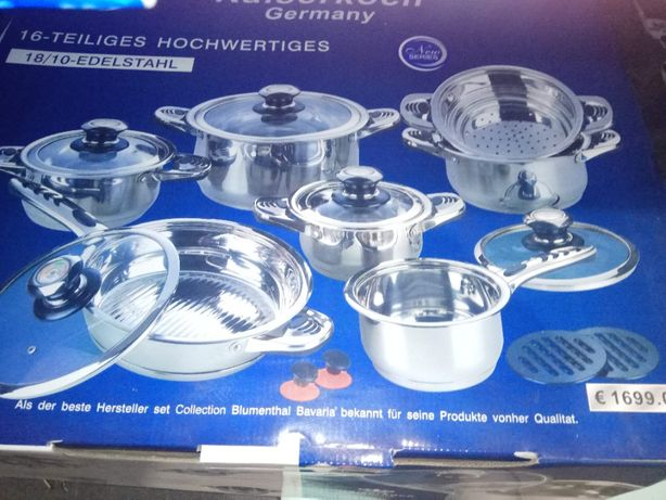 Набір посуду нержавіючої сталі з Німеччини