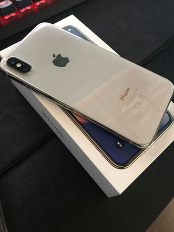 Iphone X, Silver, 64GB, 100% Sprawny!