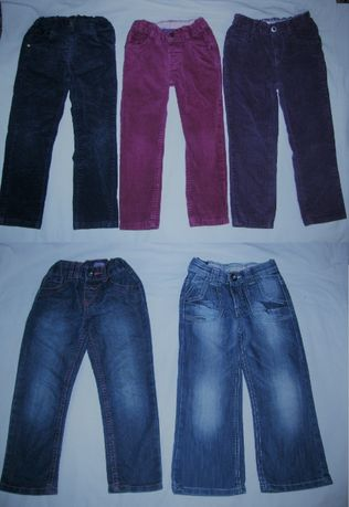Брюки вельветовые стрейч M&S, джинсы F&F на возраст 3-4-5 лет