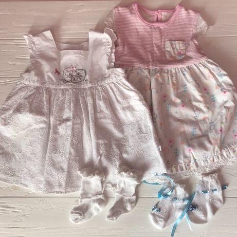 Летние платья на девочку 3-6 месяцев