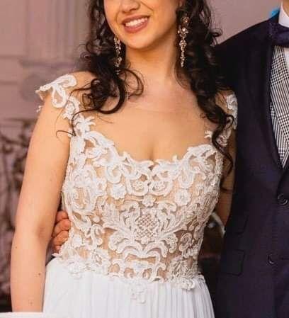 Suknia ślubna muślinowa