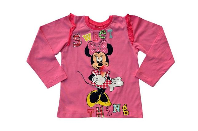 T-shirt Minnie długi rękaw rozmiar 116/122, 128/134