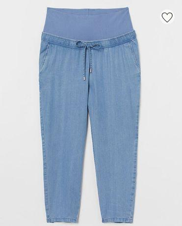 H&M mama rozmiar S ciążowe spodnie lyocell jeans cienki
