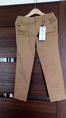 Nowe spodnie chinos Reserved rozm. 110