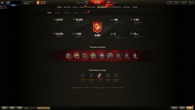 Топ акаунт игры World of tanks