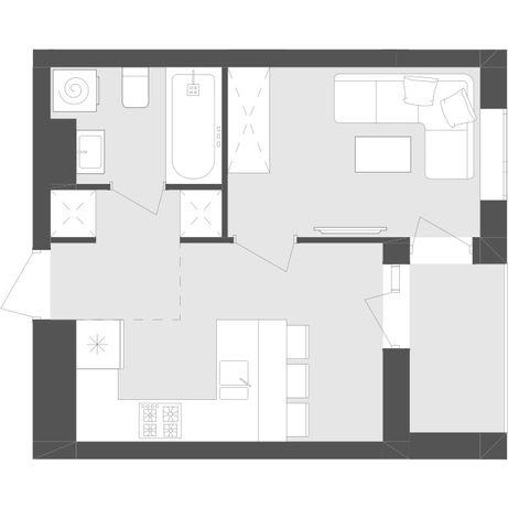 Продається однокімнатна квартира Avalon Zelena