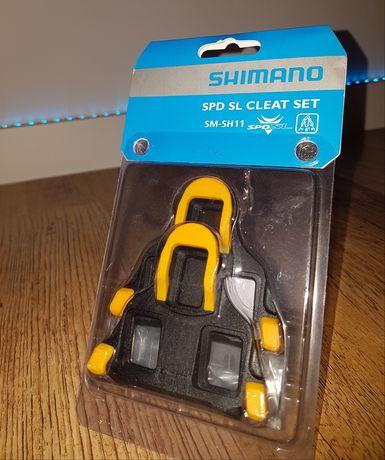Bloki Shimano SPD-SL żółte