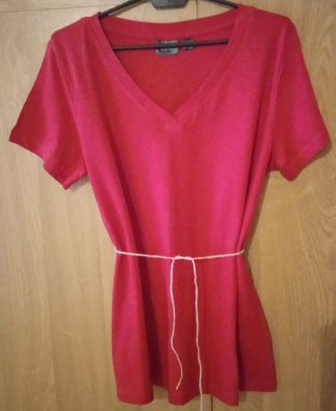 Koszulka czerwona z krótkim rękawem