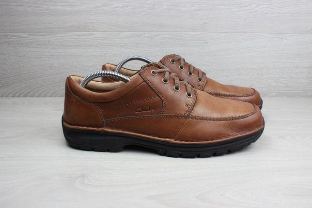 Мужские кожаные туфли / полуботинки Clarks оригинал, размер 44
