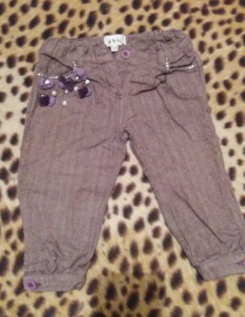Детские теплые штанишки для девочки