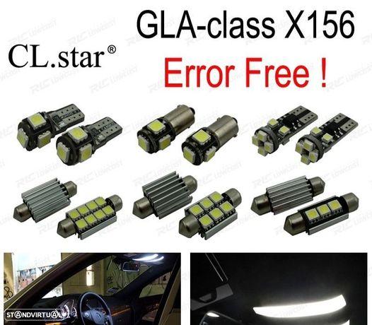 KIT COMPLETO DE 15 LÂMPADAS LED INTERIOR PARA MERCEDES BENZ GLA CLASE X156 GLA200 GLA250 GLA45 AMG