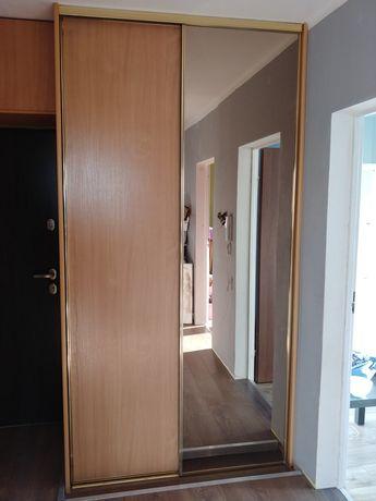 Drzwi przesuwne do szafy 2x 250x65 lustro