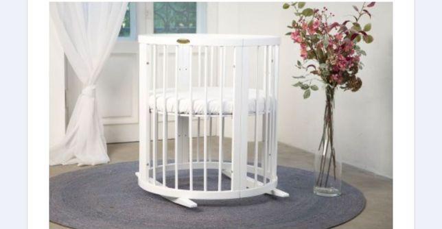 Детская кроватка ingVart-9 в-1 овал + 2 матраса в подарок