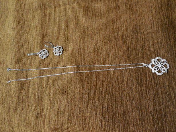 Komplet biżuterii posrebrzanej