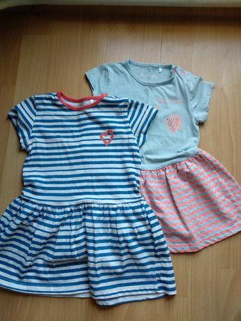 Sukienka,sukienki,zestaw 2 szt. 5 10 15 r.86