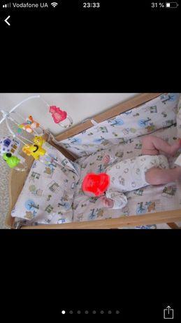 Детская постель, защита в кроватку, набор постельного белья и защита