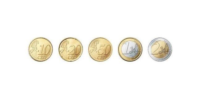 Moedas euro circuladas correntes de vários países da UE