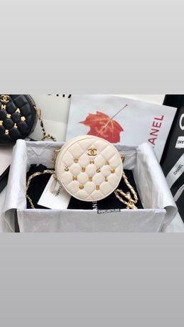 Torebka Chanel Bezowa Okragla