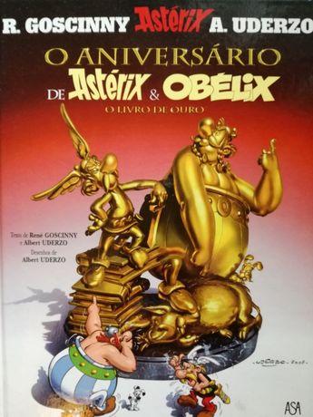 """Livro """"O Aniversário de Astérix e Obélix - O livro de ouro"""""""
