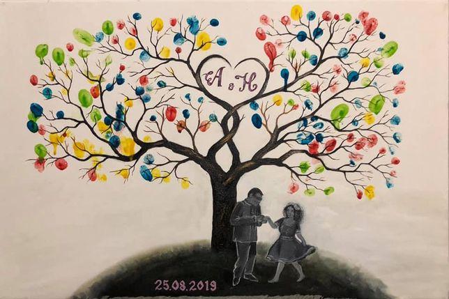 Намалюю дерево побажань на весілля дерево пожеланий на свадьбу на зака