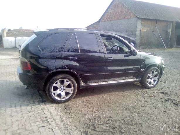 Drzwi pas przedni tylny maska BMW x5 2002r czarna