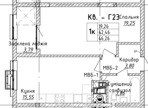 Стрийська 45,продаж 1 кім квартири