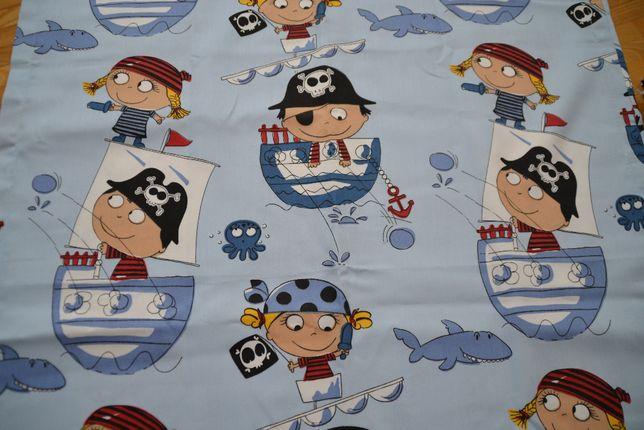 Komplet zasłon, motyw piraci