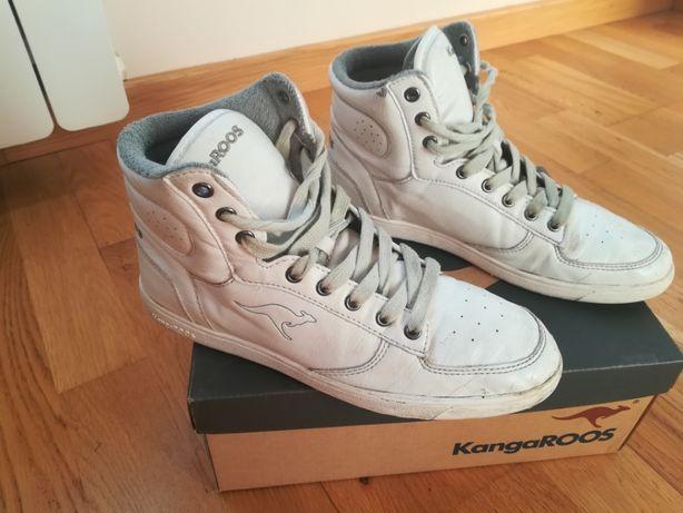 KangaRoos 37 23 cm białe wysokie sneakers