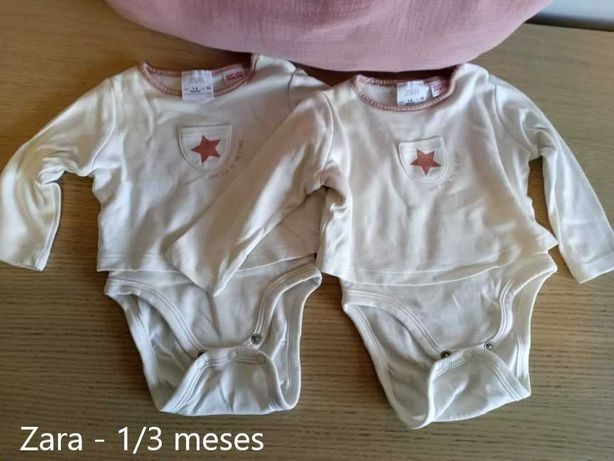Bodies Bebé Menina 0/1, 1/3, 3/6 Meses