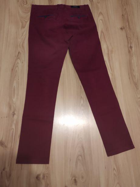 Spodnie eleganckie czarne bordowe rozmiar 34