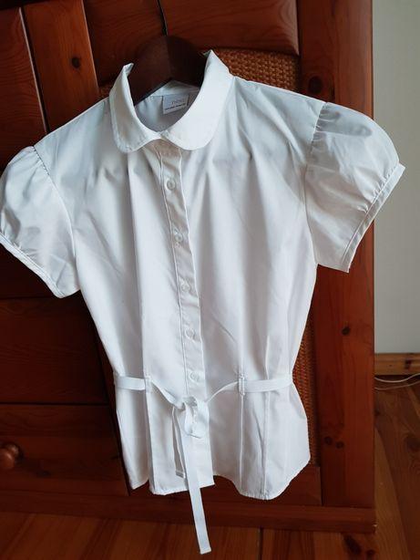 NEXT koszula biała krótki rękaw 152 / 12 lat