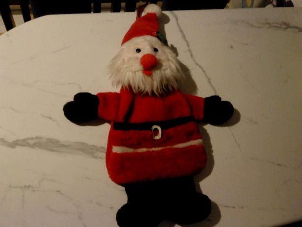 Mikołaj futerkowy z kieszonką na prezenty