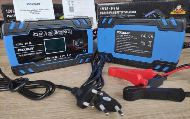 Foxsur 8A 12/24VАвто зарядное устройство для аккумуляторов автомобиля