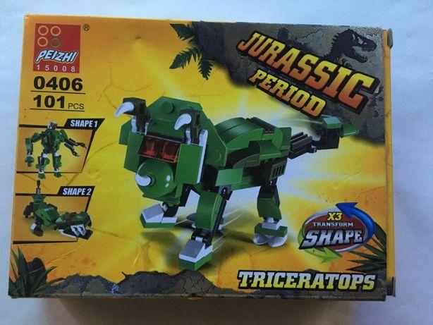Продам конструктор jurassic period triceratops 0406