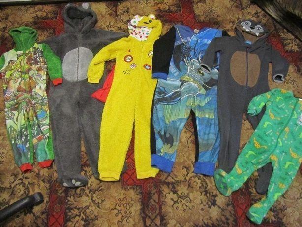 Ромпер пижама Бэтмен, Пеппа, Медведь, Волк, Собака, Черепашки Ниндзя