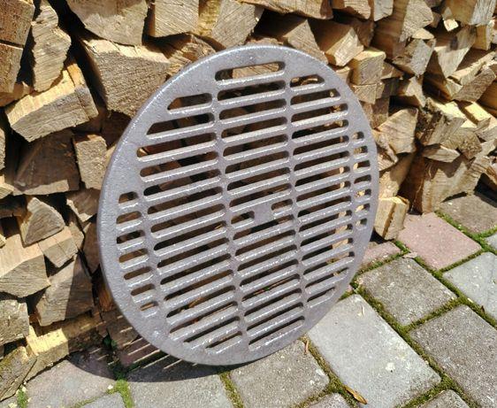 Чугунная решетка гриль на чугунная плита под казан, 395мм, 5.5кг
