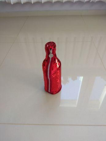 Pokrowiec na butelkę wys. 22 cm z cekinami