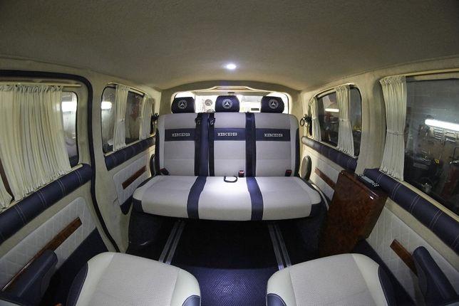 Переоборудование микроавтобусов, перетяжка салона, обшивка сидений