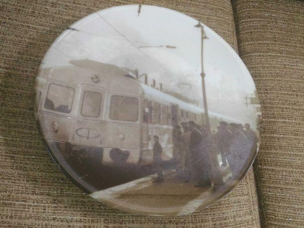 """prato comemorativo """"ADtrans / Sorefame / Estação da Amadora )"""