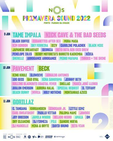 2 bilhetes festival Nos PRIMAVERA SOUND