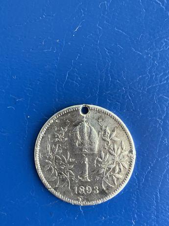 1 крона срібна 1893 рік.