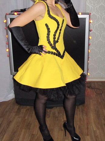 Платье эксклюзивное, сшитое на заказ, 1 раз надето