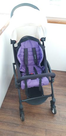 Детская коляска прогулочная YOYA , рама черная, Экокожа